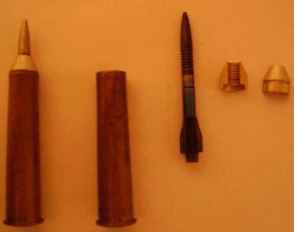 Soviet fin stabilised discarding sabot rife caliber ammo